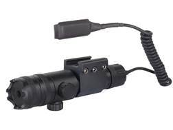 Barska GLX Laser Sight 5mW Green Laser with Picatinny-Style Ring Mount and Momentary Switch Black