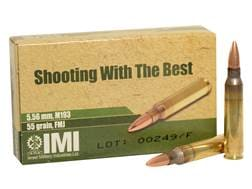 IMI Ammunition 5.56x45mm NATO 55 Grain M193 Full Metal Jacket Boat Tail