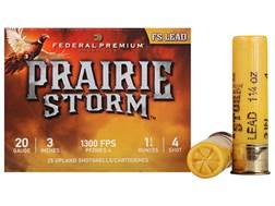 "Federal Premium Prairie Storm Ammunition 20 Gauge 3"" 1-1/4 oz #4 Plated Shot"
