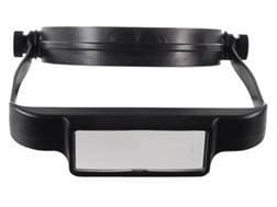 Donegan Optical OptiSIGHT Magnifying Headband Visor with 3 Lens Plates, Black