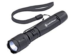 Smith & Wesson Galaxy Elite Flashlight LED with 2 AA Batteries Aluminum Black
