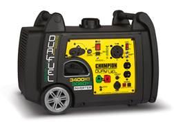 Champion 3100/3400 Watt Dual Fuel Inverter Generator with Electric Start