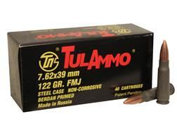 TulAmmo Ammunition 7.62x39mm 122 Grain Full Metal Jacket (Bi-Metal) Steel Case Berdan Primed