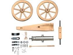 """Traditions Mountain Howitzer Black Powder Cannon Kit 50 Caliber 6.75"""" Steel Barrel Hardwood Carriage"""