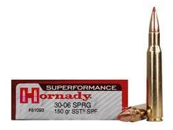 Hornady Superformance SST Ammunition 30-06 Springfield 150 Grain SST Box of 20