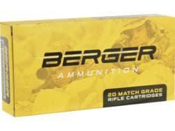 Berger Match Grade Ammunition 6.5 Creedmoor 130 Grain Hybrid OTM Tactical Box of 20