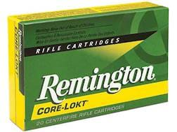 Remington Core-Lokt Ammunition 7mm Remington Ultra Magnum 150 Grain Core-Lokt Pointed Soft Point ...