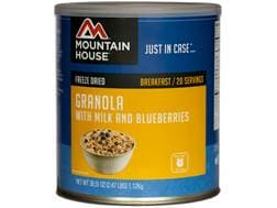 Mountain House Granola with Milk & Blueberries Freeze Dried Food #10 Can