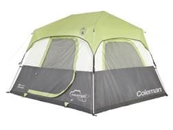 """Coleman Instant 6 Person Cabin Tent 120"""" x 108"""" x 74"""" Polyester Gray and Green"""