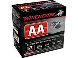 "Winchester AA Super Sport Sporting Clays Ammunition 12 Gauge 2-3/4"" 1-1/8 oz #7-1/2 Shot"