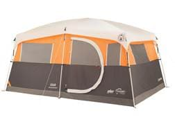 """Coleman Jenny Lake Fast Pitch 8 Person Cabin Tent with Closet 156"""" x 108"""" x 80"""" Polyester Gray an..."""