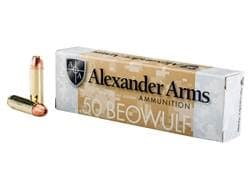 Alexander Arms Ammunition 50 Beowulf 335 Grain Rainier Plated Hollow Point Box of 20