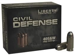 Liberty Civil Defense Ammunition 40 S&W 60 Grain Fragmenting Hollow Point Lead-Free Box of 20
