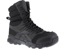 "Reebok Dauntless Ultra-Light 8"" Side-Zip Tactical Boots Leather/Nylon Men's"