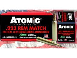 Atomic Tactical LE Ammunition 223 Remington 77 Grain Sierra Tipped MatchKing (TMK) Box of 50