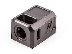 "ZEV Technologies PRO Compensator Glock 17, 19, 26, 34 9mm 1/2""-28 Thread Aluminum Black"