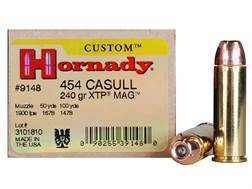 Hornady Custom Ammunition 454 Casull 240 Grain XTP Jacketed Hollow Point Box of 20