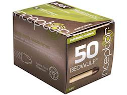 Inceptor Preferred Hunting Ammunition 50 Beowulf 200 Grain ARX Frangible Lead-Free Box of 20