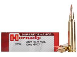 Hornady Superformance GMX Ammunition 7mm Remington Magnum 139 Grain GMX Boat Tail Lead-Free Box o...