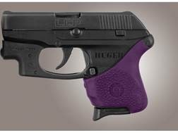 Hogue Handall Slip-On Grip Sleeve Ruger LCP With Crimson Trace Button Rubber Purple