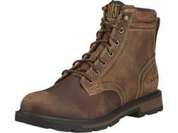 "Ariat Groundbreaker 6"" Round Toe Work Boots Leather Brown Men's"