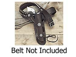 Hunter 1082 Western Slim Jim Holster with Concho Right Hand Colt Single Action Army, Ruger Blackh...