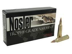 Nosler Trophy Grade Ammunition 22-250 Remington 55 Grain Ballistic Tip Varmint Spitzer Box of 20
