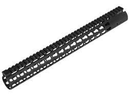 "UTG Pro Super Slim KeyMod Free Float Extended Rifle Length Handguard AR-15 Aluminum Black 15"""