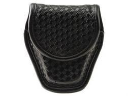Bianchi 7917 AccuMold Elite Double Cuff Handcuff Case Hidden Snap Basketweave Nylon Black