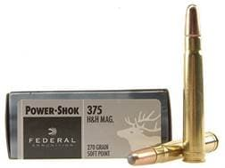 Federal Power-Shok Ammunition 375 H&H Magnum 270 Grain Soft Point Box of 20