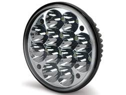 """Cyclops C3R Series Round LED Bottom Mount Light with Mounting Brackets 6"""" Aluminum Black"""
