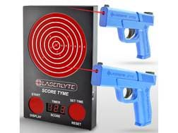 LaserLyte ScoreTyme Versus Kit with Compact and Full Size Trigger Tyme Laser Trainer Pistols