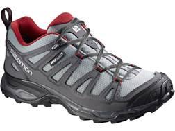 "Salomon X Ultra Prime CS 4"" Waterproof Hiking Shoes Synthetic Pearl Gray/Dark Cloud/Flea Men's"