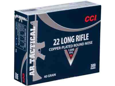CCI Tactical Ammunition 22 Long Rifle 40 Grain Plated Lead Round Nose