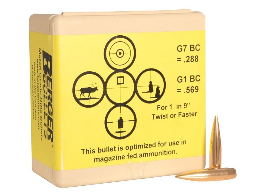 Berger Match AR Hybrid OTM Tactical Bullets 264 Caliber, 6.5mm (264 Diameter) 130 Grain...
