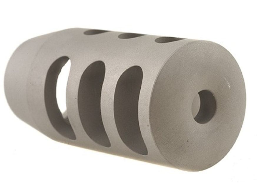 """Holland's Quick Discharge Muzzle Brake 3/4""""-28 Thread .775""""-.850"""" Barrel Tapered Stainl..."""