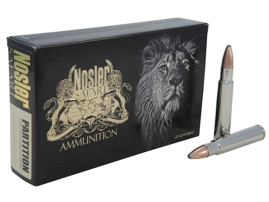 Nosler Safari Ammunition 450 Rigby 500 Grain Partition Box of 10