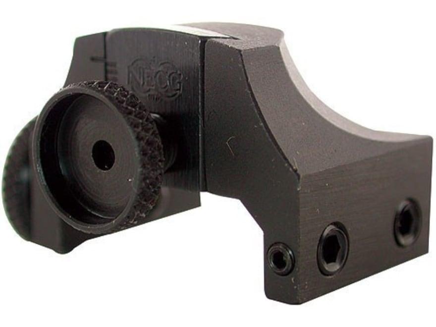 NECG Rear Peep Sight Weaver-Style Base Adjustable Steel Blue