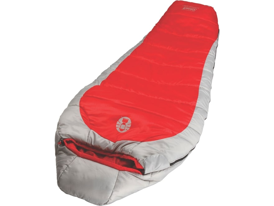 Coleman Silverton 25 Degree Women's Sleeping Bag Polyester Red and Gray
