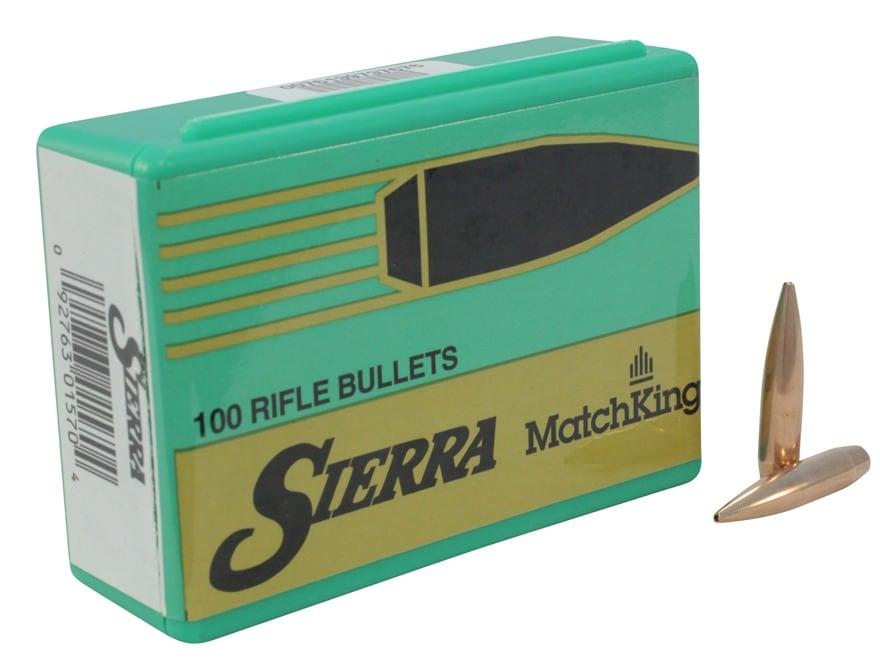 Sierra MatchKing Bullets 243 Caliber, 6mm (243 Diameter) 107 Grain Hollow Point Boat Tail