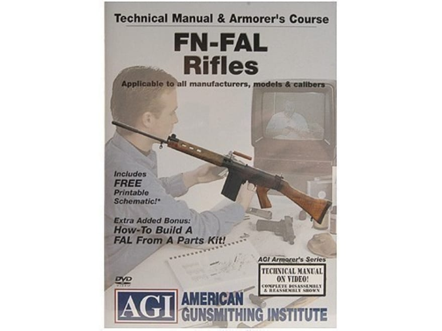 """American Gunsmithing Institute (AGI) Technical Manual & Armorer's Course Video """"FN-FAL ..."""