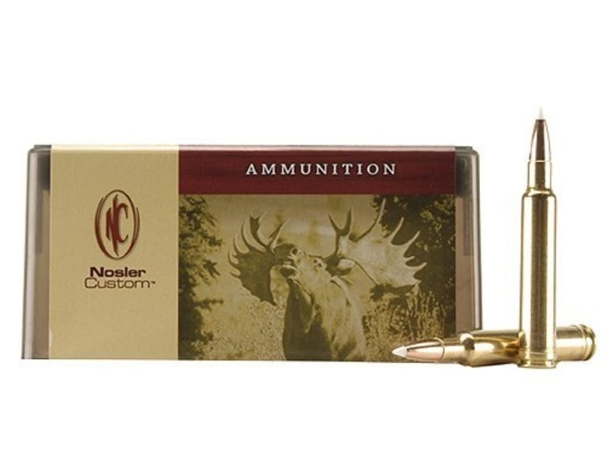Nosler Custom Ammunition 300 Weatherby Magnum 150 Grain AccuBond Spitzer Box of 20
