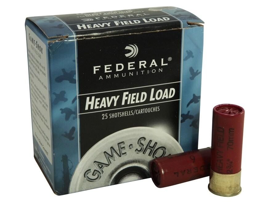 """Federal Game-Shok Heavy Field Load Ammunition 12 Gauge 2-3/4"""" 1-1/4 oz #6 Shot"""