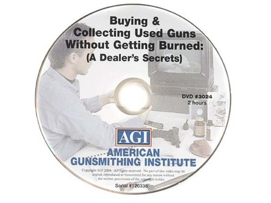 """American Gunsmithing Institute (AGI) Video """"Buying and Collecting Used Guns"""" DVD"""