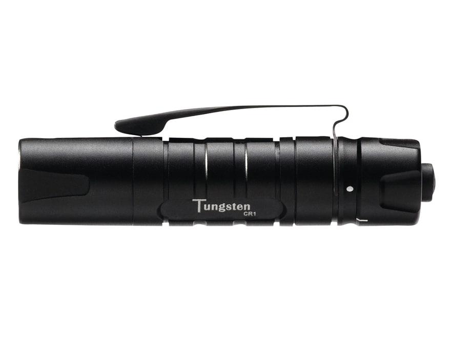 ASP Tungsten CR1 Flashlight LED with 1 CR123A Battery Aluminum Black