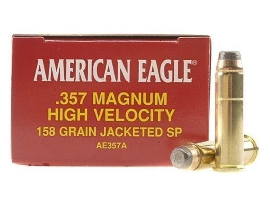 Federal American Eagle Ammunition 357 Magnum 158 Grain Jacketed Soft Point