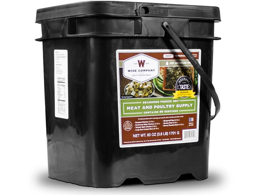 Wise Company 60 Serving Meat Freeze Dried Food with 20 Servings of Rice