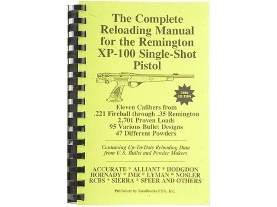 "Loadbooks USA ""Remington XP-100"" Reloading Manual"