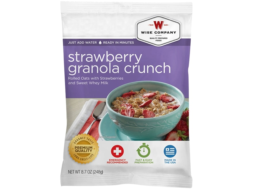 Wise Company Long Term 25 Year 4 Serving Strawberry Granola Crunch Freeze Dried Food