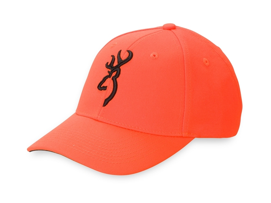 Browning Men's Safety With 3-D Buck Mark Cap Polyester Blaze/Black